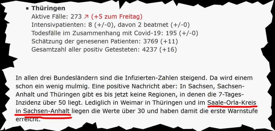 Ist doch egal ob Erfurt oder Magdeburg - Hauptsache Sachsen. Auf der MDR-Wetterkarte ist das sowieso eine Brühe.