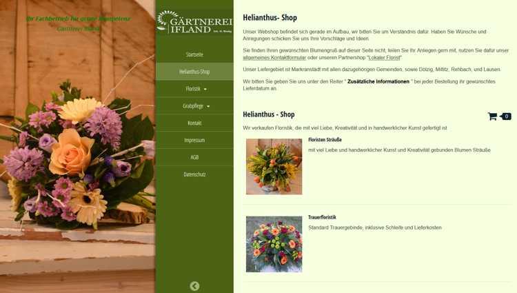 Willkommen im Helianthus-Shop der Gärtnerei Ifland.
