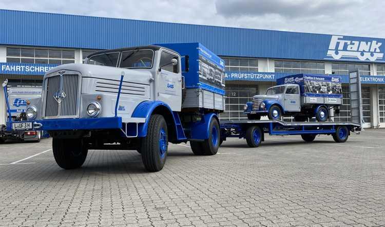 Andreas und Max Frank nehmen auf diesem H 6 an der Deutschlandtour teil.